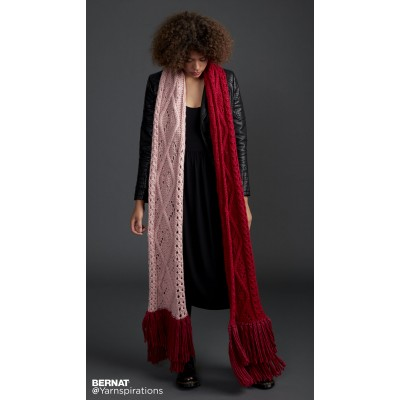 Argyle Cable Lace Knit Super Scarf