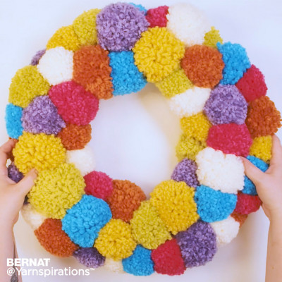 Pompom Party Wreath