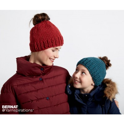 Family Fun Messy Bun Knit Hats