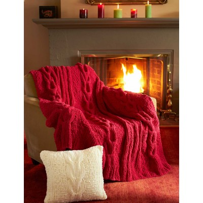 Horseshoe Cable Blanket and Pillow