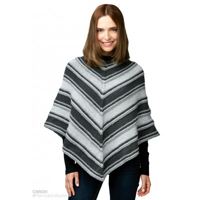 Fade to Grey Knit Poncho