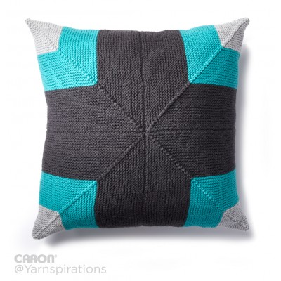 Mighty Mitered Knit Pillow