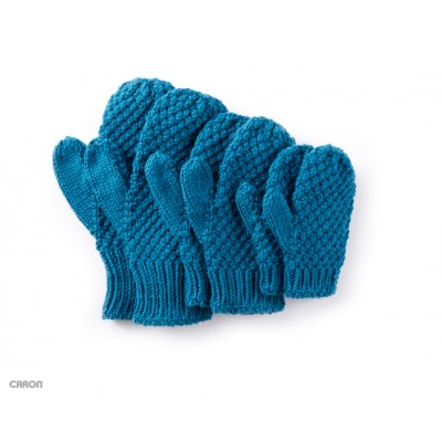 Textured Family Knit Mittens