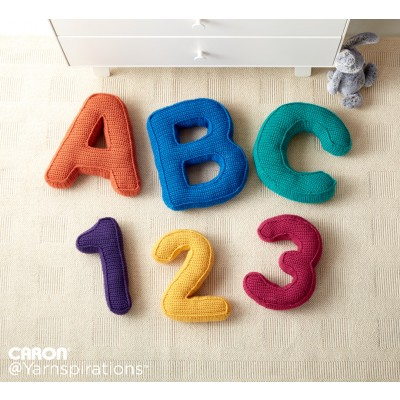 ABC's and 123's Crochet Pillows