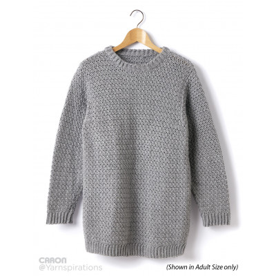 Childs Crochet Crew Neck Pullover