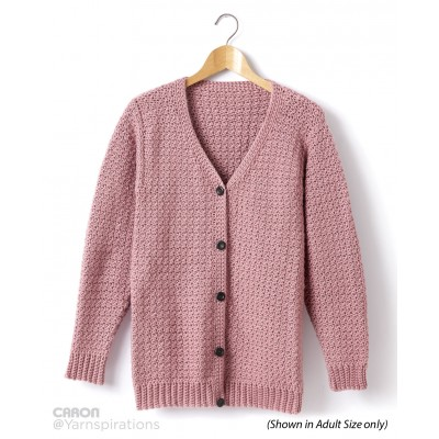 Childs Crochet V-Neck Cardigan