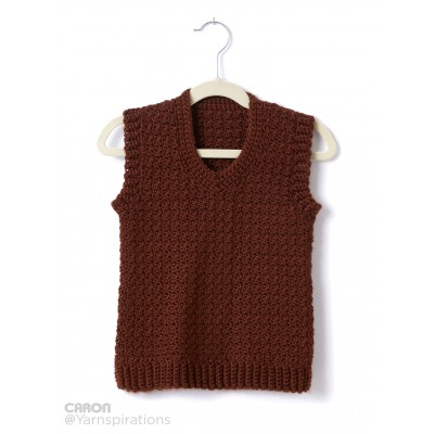 Child's Crochet V-Neck Vest