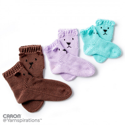 Crochet Bear Feet Slipper Socks