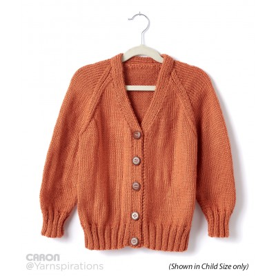 Adult Knit V-Neck Cardigan