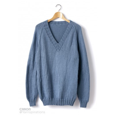 Adult Knit V-Neck Pullover