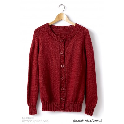 Child's Knit Crew Neck Cardigan