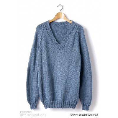 Childs Knit V-Neck Pullover