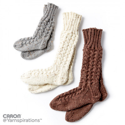 Cozy Knit Cabin Socks