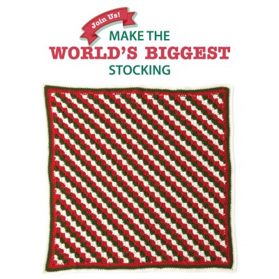 Diagonal Stripes Blanket Square for Stocking