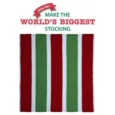 Sweet and Stripey Blanket Square for Stocking