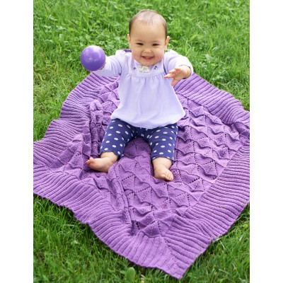 Butterfly Baby Blanket Knitting Pattern : Baby Blanket Knitting Patterns Yarnspirations