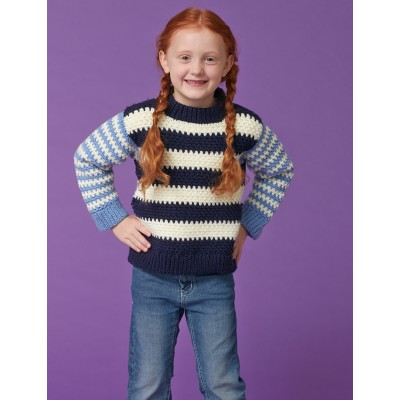 Duo Stripes Kids Pullover