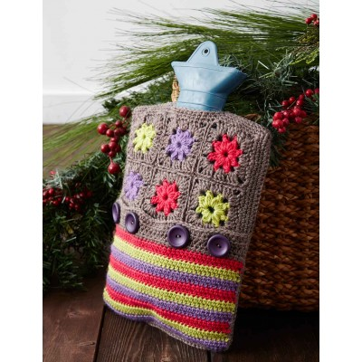Color Wheel Hot Water Bottle Cozy