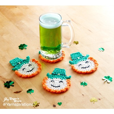 Luck of the Irish Crochet Coasters