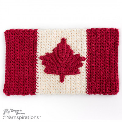 Oh Canada Crochet Dishcloth