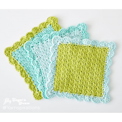 Scalloped Crochet Dishcloth