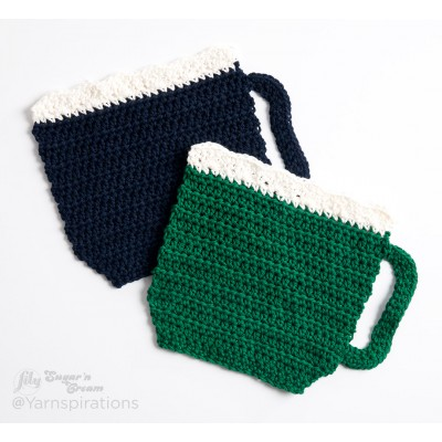 Take A Sip Crochet Dishcloth