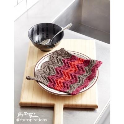 Changing Colours Knit Dishcloth
