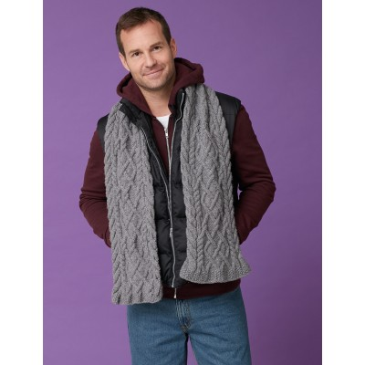 Men's Cabled Scarf