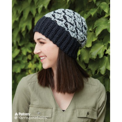 Crochet Shadow Shells Hat