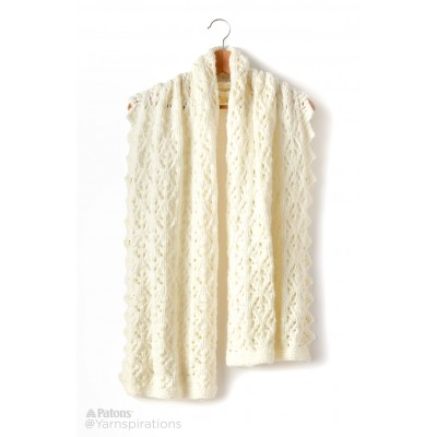 Shandeh's Knit Cushy Lace Wrap