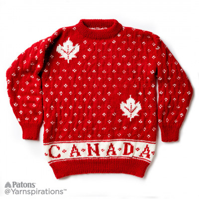 Canada Knit Adult Sweater
