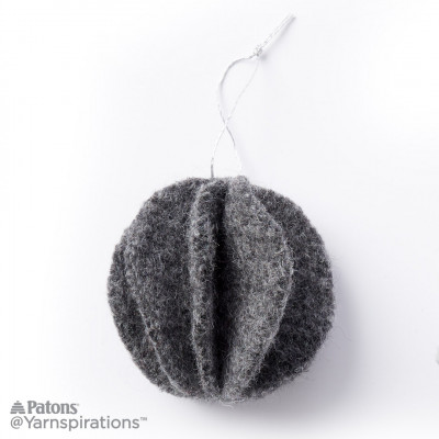 Felt Knit Circle Ornaments