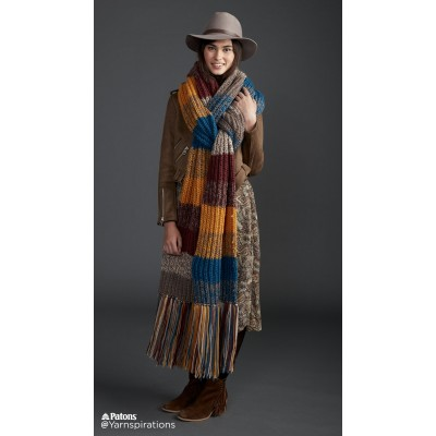 Marl Stripe Knit Super Scarf