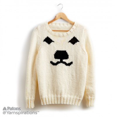 Polar Bear Knit Holiday Sweater