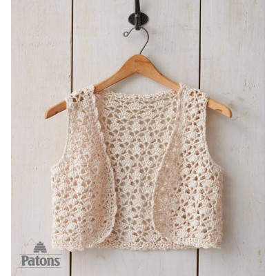 Free Crochet Cotton Vest Pattern : Womens Vest Crochet Patterns Yarnspirations