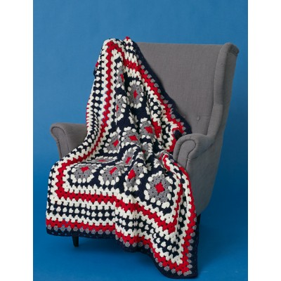 Patriotic Granny Throw