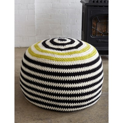 Graphic Stripes Pouf