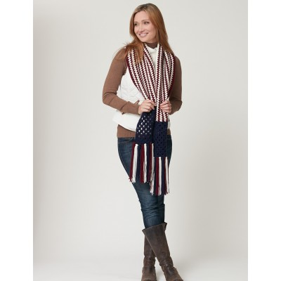 Stripes and Squares Scarf