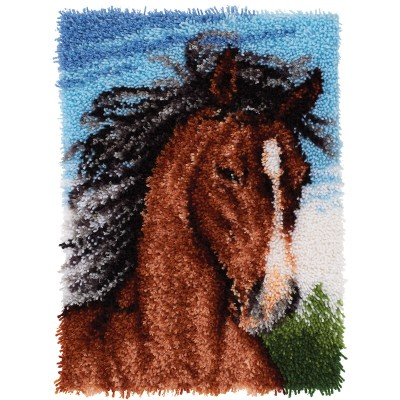 "Wonderart Latch Hook Kit 20""x 27"" Wild Stallion"