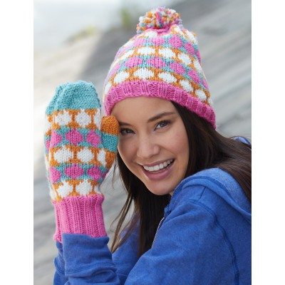 Polka Dot Hat and Mittens