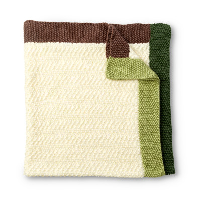 Brick Road Knit Baby Blanket