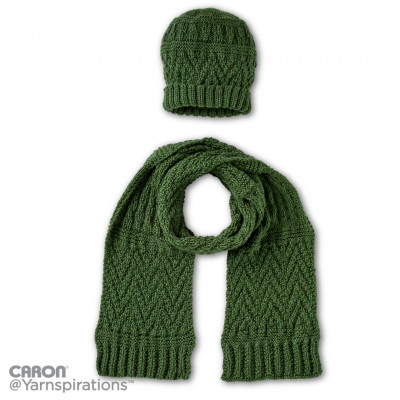 Guernsey Textures Knit Hat and Scarf