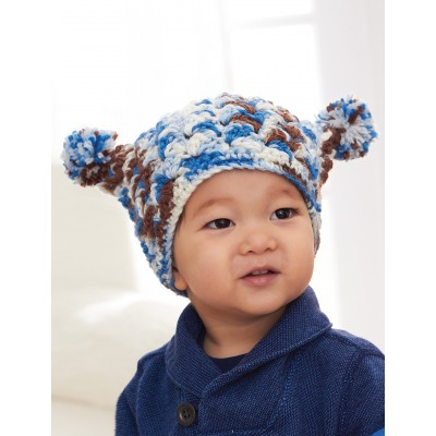 Easy Peasy Pompom Hat
