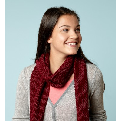 Knit Burgundy Scarf