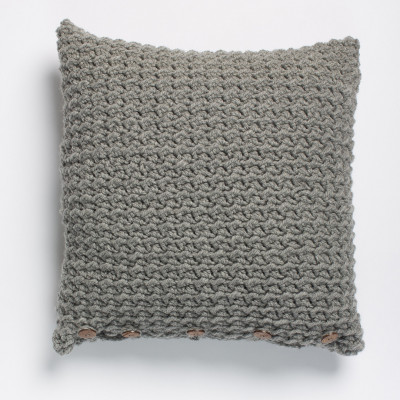 Crochet Crunch Stitch Pillow