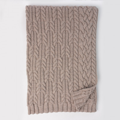 Cross Roads Cable Knit Blanket