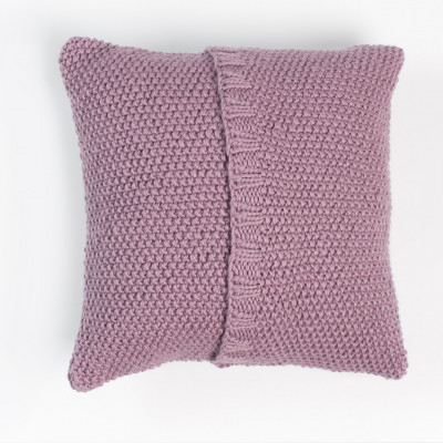 Seed Stitch Knit Pillow