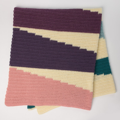 Wedge It Crochet Blanket