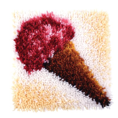 "Wonderart Latch Hook Kit 12""x 12"" Ice Cream"