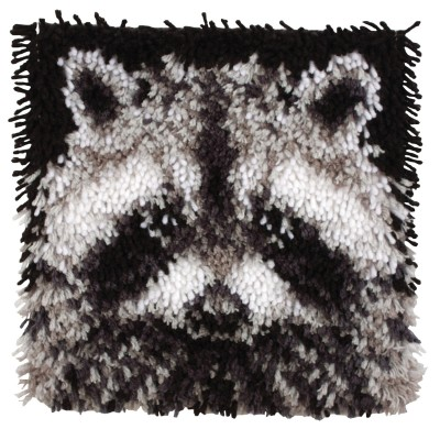"Wonderart Latch Hook Kit 12""x 12"" Raccoon"